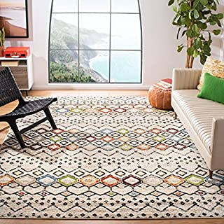 Safavieh Amsterdam Collection AMS108K Area Rug, 10' x 14', Ivory/Multi (B073HK3Q6M) | Amazon price tracker / tracking, Amazon price history charts, Amazon price watches, Amazon price drop alerts