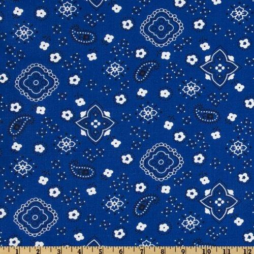 Richland Textiles Bandana Prints Royal Fabric By The Yard