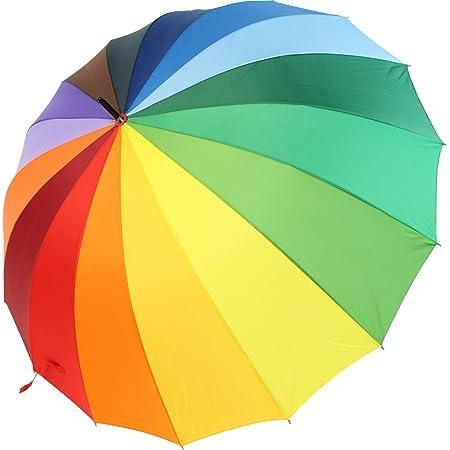 iX-brella Parapluie Motif multicolore arc-en-ciel Taille XXL 129cm Parapluie léger, de grande taille, avec poignée douce