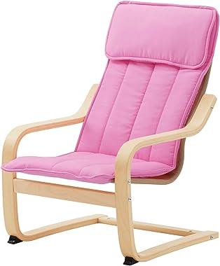 POÄNG Children's Armchair, Birch Veneer, Almås Pink