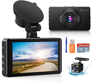 Dash Camera for Cars Super Night Vision Dash Cam Front and Rear 1080P FHD DVR Car Dashboard Camera with 170°Wide Angle, G-...