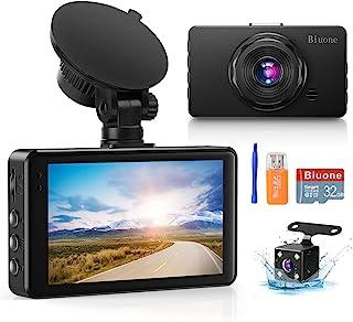 دوربین داش برای اتومبیل Super Night Vision Dash Cam جلو و عقب 1080P FHD DVR دوربین داشبورد اتومبیل با زاویه باز 170 درجه ، سنسور G ، WDR ، مانیتور پارکینگ ، ضبط حلقه ، تشخیص حرکت