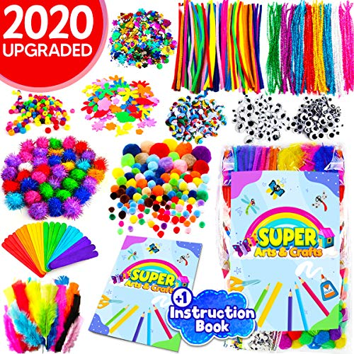 InnoRock Arts and Crafts Supplies for Kids - Assorted Craft Art Supply Kit for Toddlers Age 4 5 6 7 8 9 - Large All in One D.I.Y. Crafting Materials Set for School Projects