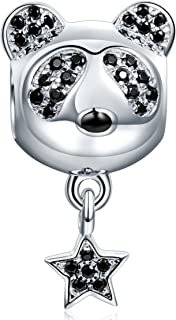 NINAQUEEN Christmas Charms Gifts Lucky Panda 925 Sterling Silver Dangle Charms Fit for Bracelet Gifts for Teen Girls
