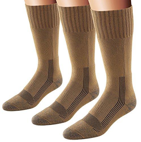 Fox River Herren Wick Dry Maximum Mid Calf Military Socken, 3er Pack (Coyote Brown, X-Large)