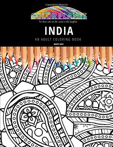 INDIA AN ADULT COLORING BOOK An Awesome Coloring Book For Adults Color Planet product image