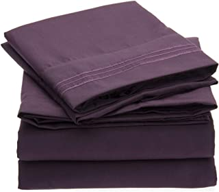 Best dark purple sheets queen Reviews