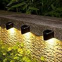 8-Pack Gigalumi Waterproof Solar Powered Step Lights