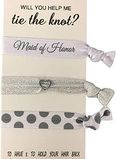 Bridesmaid Gifts, Bridesmaid Hair Ties, Bridesmaid Jewelry Accessory-Makes The Perfect Gift for Bridesmaids
