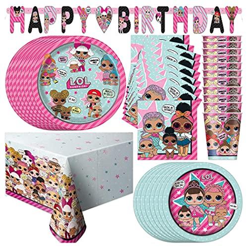 LOL Surprise Party Supply Set (Serves 16)