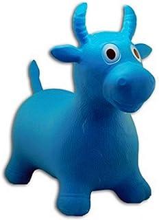 Ballon saltador vaca niño azul pogo juguete bebé