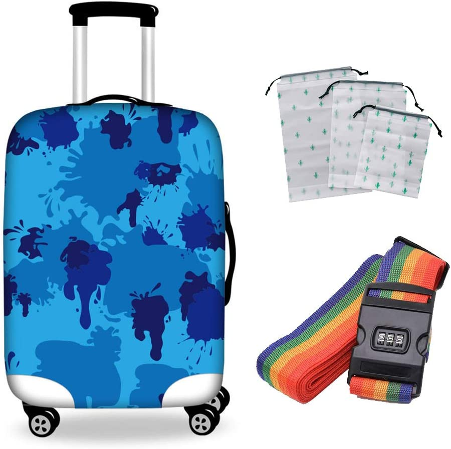 Q-YR Shockproof Suitcase 2021 spring and summer new Cover Pr Wear-Resistant Elastic Luggage Max 54% OFF
