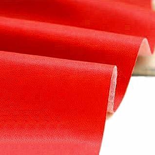 A-Express Manualidades, de Polipiel para tapizar, Venta de Polipiel por Metros, Tejido de Piel sintética, Piel sintética, Rojo (Longitud 200cm x Ancho 140cm