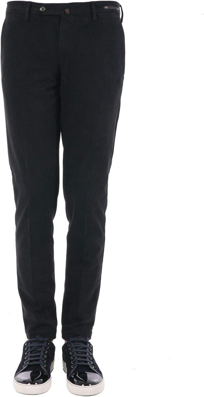 PT01 Men's KP01TS330990 Black Cotton Pants