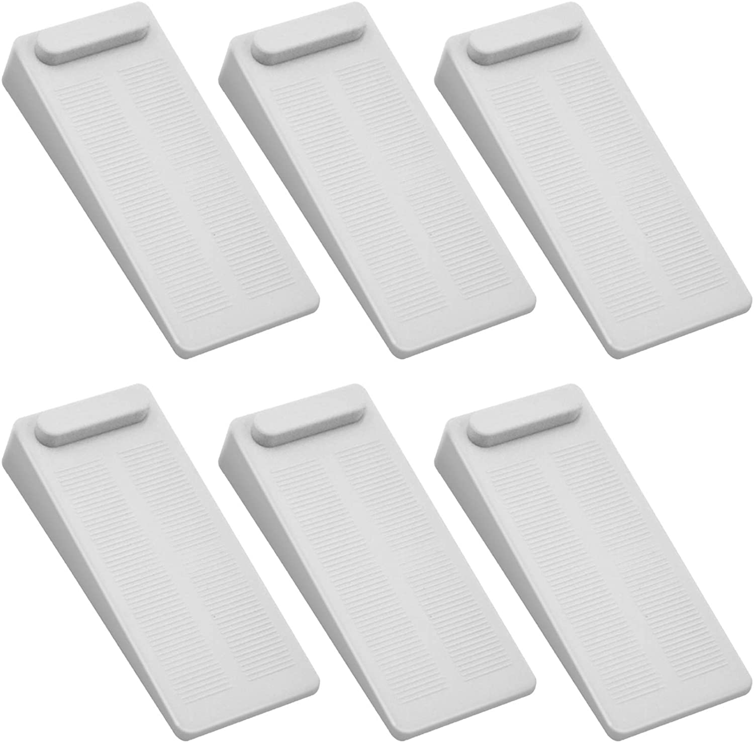 5% OFF Rubber Door Stoppers 6 Pack Heigh Adjustable Duty Directly managed store Heavy No-Slip