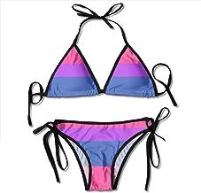BJNHJS53 Womens Bikini Sets Bisexual Pride Flag Sexy Two Piece Swimsuits Beach Swimming