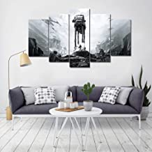 XIAOAGIAO 5 Canvas Painting Canvas Posters HD Prints Pictures 5 Pieces Star Wars Battlefront Movie Painting on Canvas