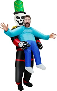 Camlinbo Halloween Inflatable Costumes for Adults Skull Skeletons Hold me Halloween Party Costume Blow Up Costume