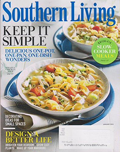 Southern Living January 2016 Keep It Simple Quick Fix Slow Cooker Meals
