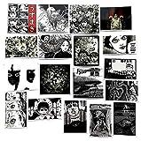 ZJJHX Ito Run Er Fujiang Vortex Horror Anime Maleta Skateboard Computadora Teléfono móvil Shell Coche eléctrico Etiqueta Impermeable Etiqueta 56 Hojas