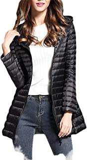 Macondoo Women's Lightweigth Quilted Puffer Outwear Hooded Cotton-Padded Down Jacket