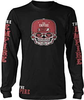 The Empire Candy Skull Black Long Sleeve T-Shirt w/Free Sticker