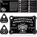 Pendulum Dowsing Divination Board Set Black Wooden Spirit Board Talking Board with Planchette Accessories for Teens Adults Birthday Party and Family Gatherings Games Supplies