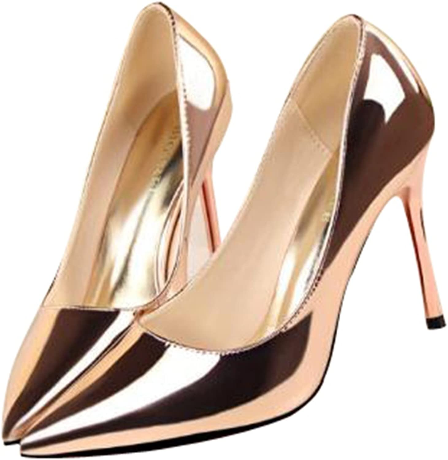 Women's Classic Closed Pointed Toe Low Top High Stiletto Heels Pumps shoes