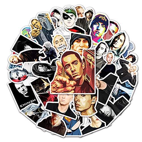 WYDML Pegatinas de Eminem de Estrellas Americanas para niños, Etiqueta de Estudiante, calcomanías Decorativas, álbumes de Fotos artesanales, Graffiti, Pegatina, 50 Uds.