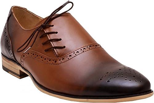 German Wear Affaires Chaussures Basses Cuir Chaussures à Semelles en Cuir Marron