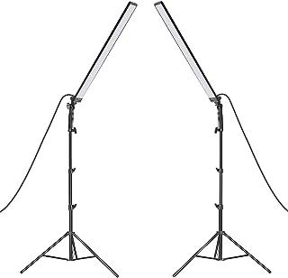 Neewer LED-belysning studio LED-belysningsset 2-pack ljusstav handhållen LED-videoljus sticka 5500 K med justerbar ljussty...