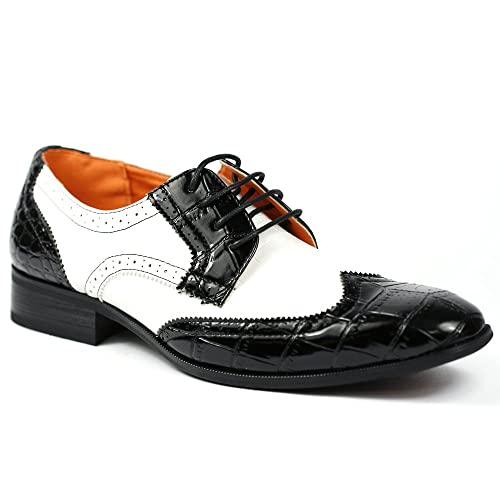 Mens Black And White Dress Shoes Amazon
