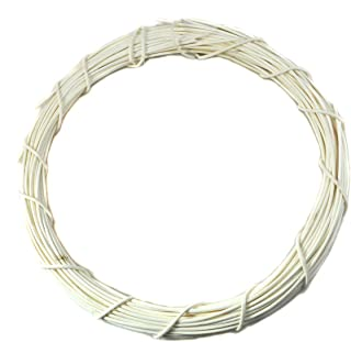 Ougual DIY Crafts Natural Rattan Coloring Wreaths (White, 8-Inch, 4-Pack)