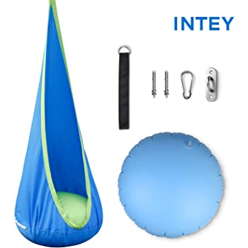 INTEY Kids Pod Swing Seat Child Hanging Hammock Chair for Outdoor and Indoor Use