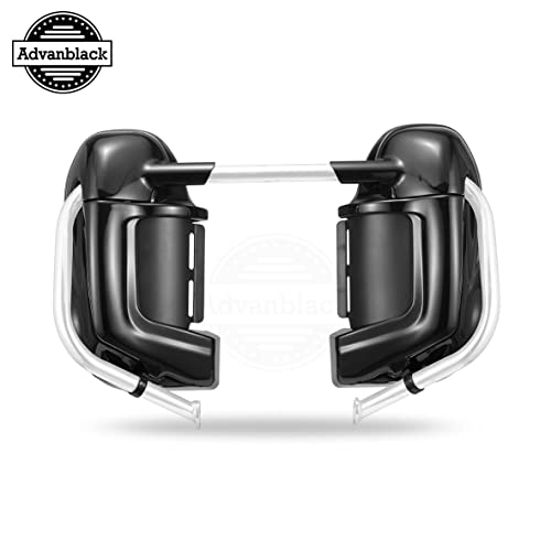Gloss Vivid Black Right Lower Vented Leg Fairing Cap for 1993-2013 Harley-Davidson FLH Ultra Classic FLHT Electra Glide Street Glide Road King
