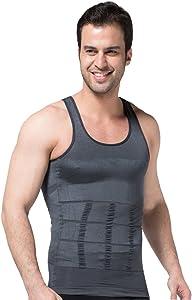 ZEROBODYS Men's Shaper Slimming Sleeveless T-Shirt Elastic Body Sculpting Vest SS-M01 Grey
