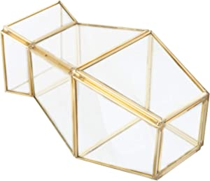 Glass Storage Container, Geometric Glass Geometric Holder, Embedded Corrosion Resistant For Home Gardening Home Furnishings Home Decoration