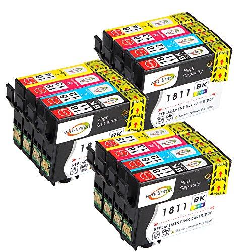 Win-Tinten Cartouches d'encre équivalentes à Epson 18XL pour imprimantes Epson Expression Home XP-322 XP-412 XP-305 XP-312 XP-405 XP-425 XP-325 XP-225 XP-215 XP-202 XP-415 3 Satz-01