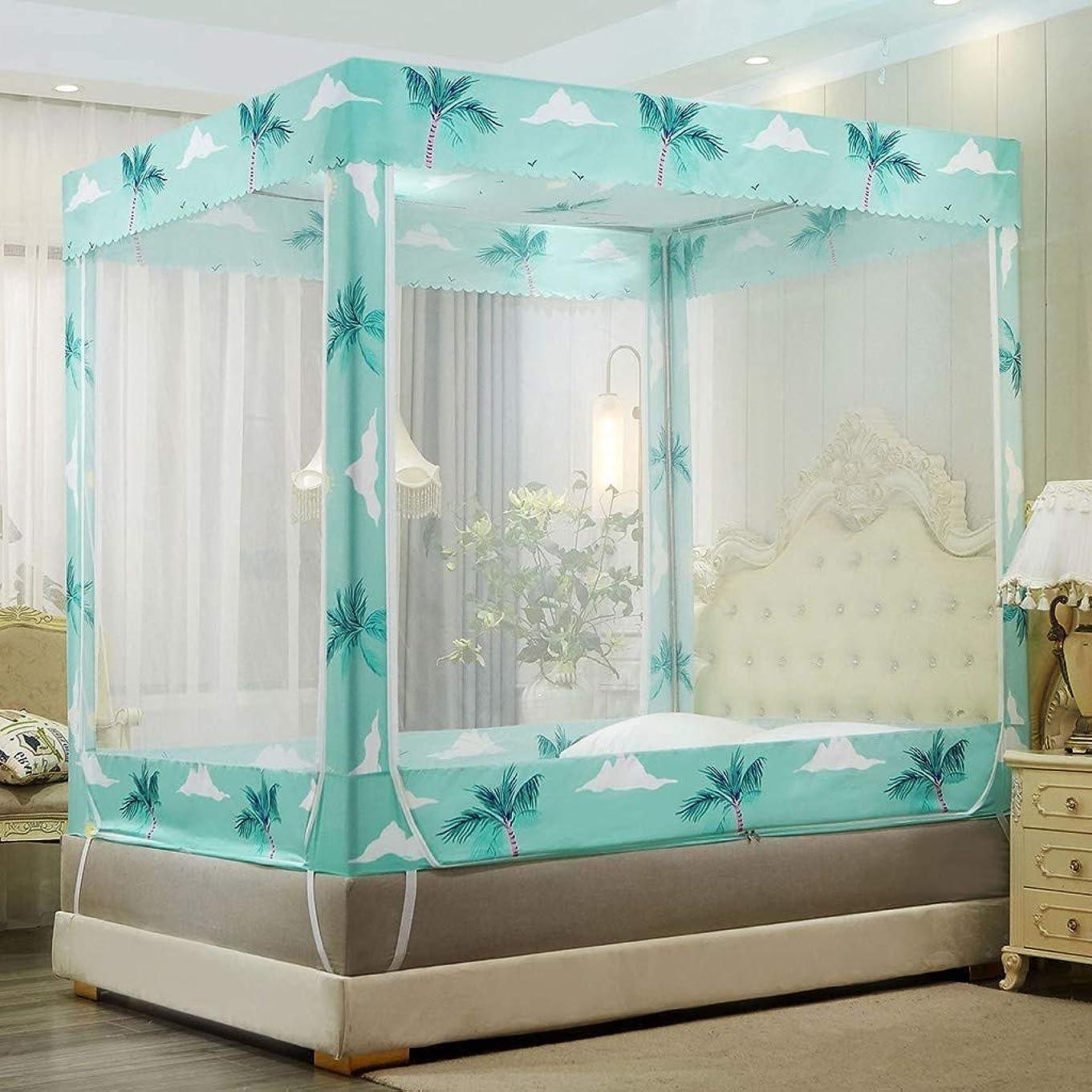 希少性ミネラル冬蚊帳 シングル テントのテントの大人のベッドのおおいの網、速い容易な取付け、掛かるベッドのおおいの網、普遍的なドームの蚊帳のベッド、旅行、キャンプに最適(子鹿、120 * 200cm),Coconut Tree