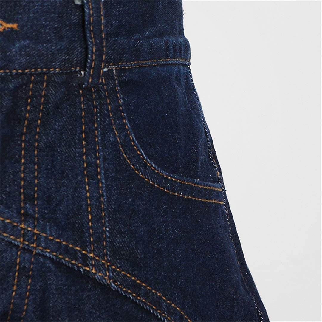 DFLYHLH Female High Waist Irregular Denim Short for Women Casual Slim Sexy Shorts