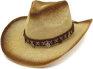 XinLin Du Women Spray Paint Straw Hat Outdoor Beach Hat Sun Hat Capital Tassel Fashion Braided Rope Visor