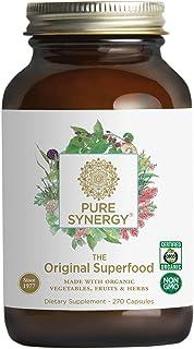 Pure Synergy Green Superfood (270 Capsules) 60+ Greens, Veggies, Herbs for Energy & Wellness