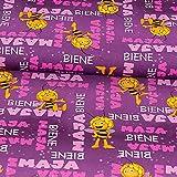 Dekostoff Biene Maja lila - Lizenzstoff - Preis gilt für