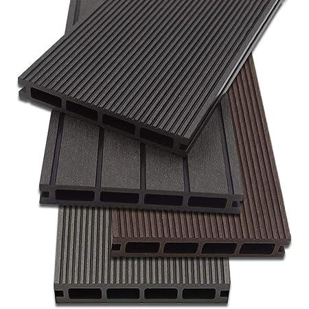 Unterkonstruktion und komplettem Zubeh/ör Home Deluxe Menge: 40 m/² Inkl WPC Terrassendiele Anthrazit Drei verschiedene Farben