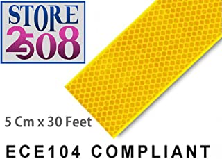 Store2508® High Intensity Reflective Conspicuity Tape, Yellow, 2 Inch Width (30 Feet)