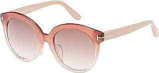 نظارة شمسية للنساء بتصميم بيضاوي من توم فورد - FT0429-F-74F - 54-20-140 ملم