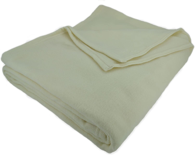 Elite Home Evora Plush Ranking TOP14 Ranking TOP14 Washable Wool Blanket Twin Ivory