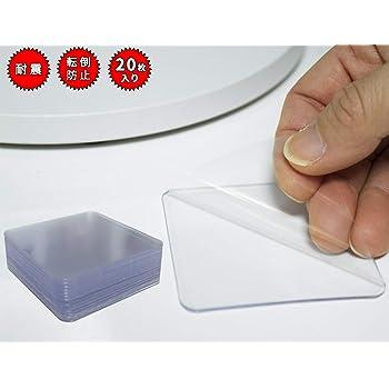 地震 災害対策 転倒防止 マット 耐震 マット シール ジェル 6x6cm 厚み1.2mm (20枚入り)