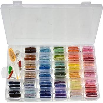 Fascigirl 135 Pcs Kit De Hilo De Bordar Diy 96 Colores Hilo De Bordado Hilo De Punto De Cruz Con Caja De Almacenamiento: Amazon.es: Ropa y accesorios