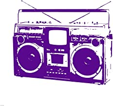 Purple Boom Box by Veruca Salt Art Print, 52 x 52 inches